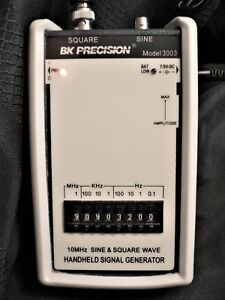 Bk Precision Sine square Wave Generator Model 3003 Hand Held With Power Supply