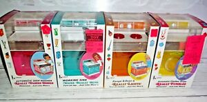 4 New Vintage Working Amsco Doll Play Range oven Sink Dish Washer Clothes Dryer