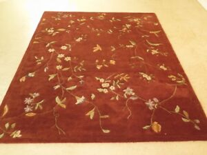 Lf40591c Approx 7 X 9 Sculptured Indian 100 Wool Room Size Rug