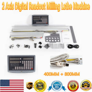 Dro Axis Digital Readout Milling Lathe Machine Two Precision Linear Ruler Scale
