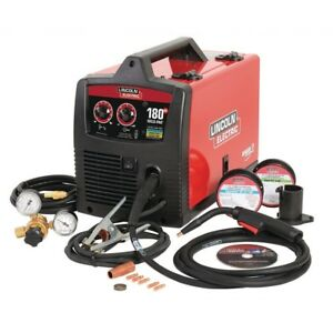 180 Amp Weld pak 180 Hd Mig Wire Feed Welder With Magnum 100l Gun Gas Regulator
