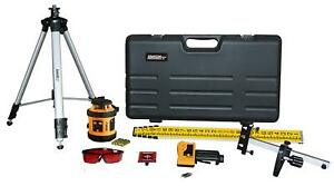 Johnson Level Tool 40 6517 Self leveling Horizontal Rotary Laser Level Kit