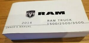 2014 Ram Truck 1500 2500 3500t Owner S Manual 14d241 126 Ad 4th Ed 802 Pgs