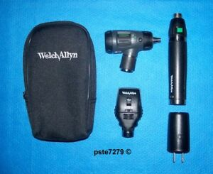 Welch Allyn Lithium Ion smart Set Macroview Otoscope Coaxial Ophthalmoscope
