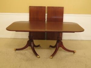 Lf41496ec Hickory Chair Co Banded Mahogany Dining Room Table