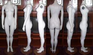Vintage Full Size Headless Female Mannequin In High Heels Shoes On Wooden Base