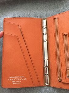 Filofax Travelfax Made In England Rare Vintage Planner In Real Pigskin