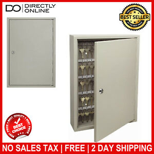 120 Key Cabinet Storage Lock Wall Hook Box Steel Safe Keys Secure Hanging New