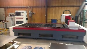2015 Bossfc 6012 Ipg Fiber Laser Excellent Condition Very Low Hours