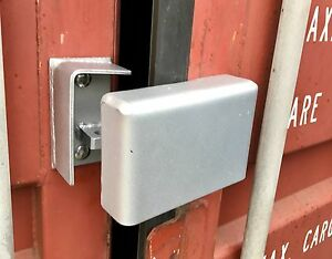 Bolt On Cargo Container Security Lock Box W Free Padlock bolts