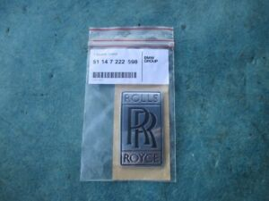 Rolls Royce Ghost Grille Trunk Rr Emblem Badge Oem New 2986