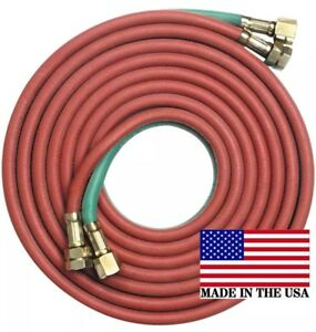 50 X 3 8 Twin Welding Torch Hose Oxygen Acetylene Propane Made In The U s a