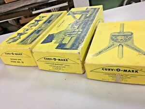 Curv O Mark Lot Of 3 Different