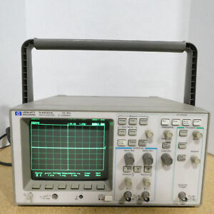 Hp 54600a 100mhz 2 Channel Digital Oscilloscope W 54658a Module Tested working