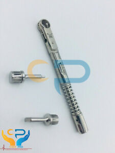 Universal Dental Implant Torque Wrench Ratchet 10 40 Ncm With Drivers