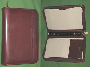Compact 0 75 Red Calf Leather Garys Planner Binder Franklin Covey Organizer