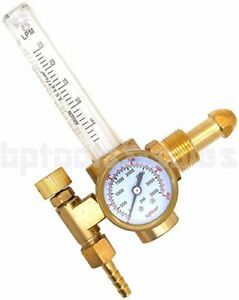 Argon Co2 Mig Tig Flow Meter Welding Weld Regulator Gauge Gas Welder Cga580