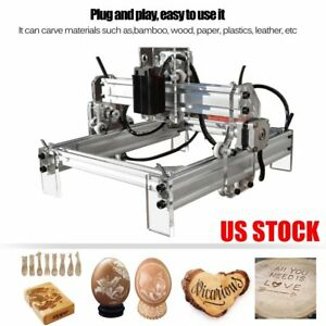 2000mw 17x20cm Desktop Laser Engraving Machine Logo Marking Printer Engraver Us