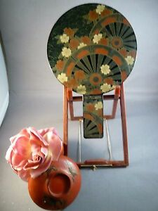 Vintage Japanese Double Mirror Maki E Lacquer Decoration Geishas Loved Them