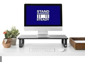 Jumbo Monitor Stand By Stand Steady Desk Shelf With 4 Padded Feet 4 75