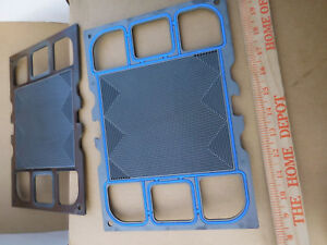 Lot Of 6 used Hydrogen Fuel Cell Graphite Plates