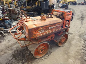 Rammax P33 24 Trench Roller Runs Mint Hatz Diesel Video Padfoot Ditch
