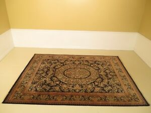 Lf45465ec Vintage Black Persian Hand Knotted Approx 9 X 12 Rug