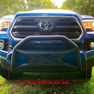 Monster Guard For 05 15 Toyota Tacoma Textured Blk Bumper Guard Bull Bar