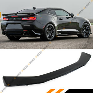 For 2016 2018 Chevrolet Camaro Painted Glossy Black Zl1 Style Trunk Spoiler Wing