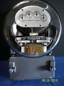 1940 s Duncan Type Mf 15 Amp 230 Volts Residential Meter