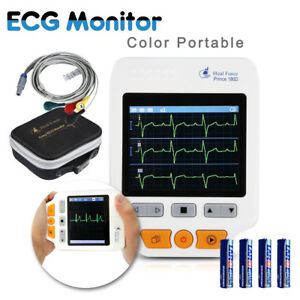 Heal Force 180d Portable Color Ecg Monitor Ecg Lead Cables 50x Ecg Electrodes