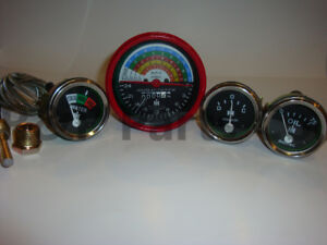Tractor Gauge Set Temperature Tachometer Oil Amp For Farmall Ih 300 350 Row Crop