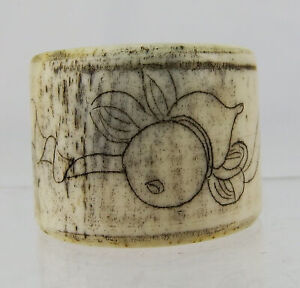 Chinese Carved Bovine Bone Archer Ring