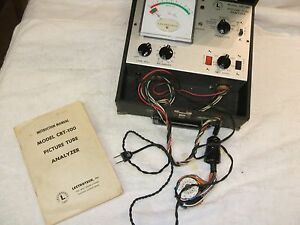 Vintage Lectrotech Picture Tube Analyzer Model Crt 100