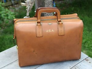 Vintage Brown Leather Doctor Bag Old Dr Bag Medical Bag Apothecary Bag Usa