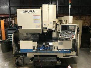 2003 Okuma Mc 40va Cnc Vmc 30 X 17 6000rpm Ct40 Fanuc 180i Runs Daily