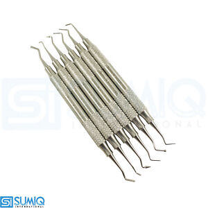 Set Of 6 Dental Composite Filling Instrument Polished Light Weight Tools Sumiq