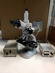 Zeiss Trinocular Laboratory Microscope With Fluorescence
