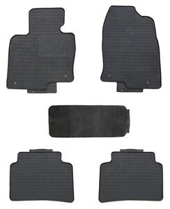 Floor Mats For 2018 Mazda Cx 5 Custom Fit Shape Black Rubber All Weather