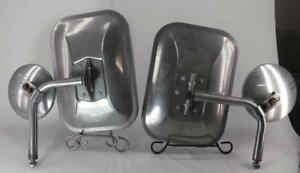 Vintage Chrome Truck Cattle Mirror Set Well Made Unknown Brand