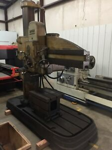 Radial Arm Drill 4 X 11 Col American hole Wizard With 18 X 24 Table