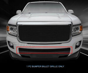 Black Bumper Billet Grille Grill Insert For Gmc Canyon 2015 2016 2017