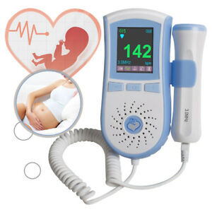 Fda Approved Fetal Doppler 3mhz Probe Baby Heart Monitor Backlight Color Clear