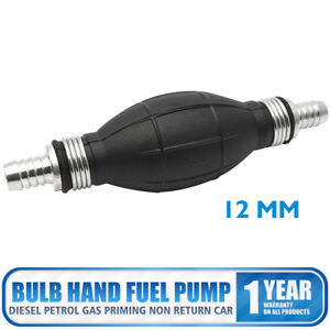 12mm Fuel Pump Primer Bulb Hand Pump Petrol Gas For Vehicle Motorcycle Rubber