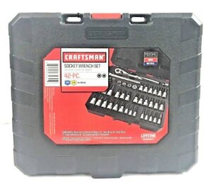 Craftsman 42 Piece 1 4 And 3 8 inch Drive Bit And Torx Bit Socket Wrench Set