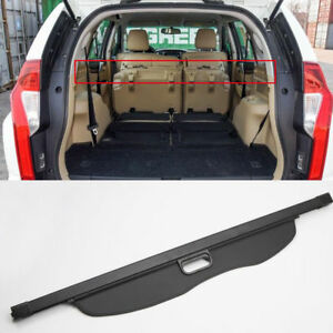 Black Rear Trunk Security Cargo Cover For Mitsubishi Pajero Montero Sport 16 18