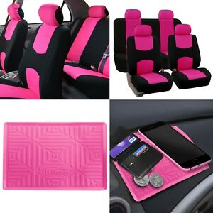 Auto Car Seat Covers 2 Row For Solid Benches With Dash Mat