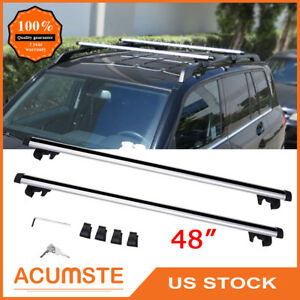 48 Universal Roof Rack Cross Bars Top Cargo Luggage Carrier Rail Car Suv Wagon