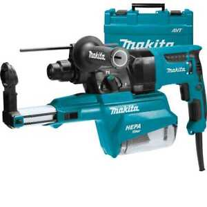 Makita Hr2651 1 Avt Sds plus Rotary Hammer W Hepa Dust Extractor New