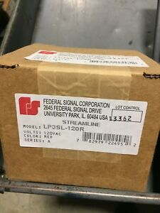 Federal Signal Corporation Lp3sl 120r Red Led Light Nema 4x